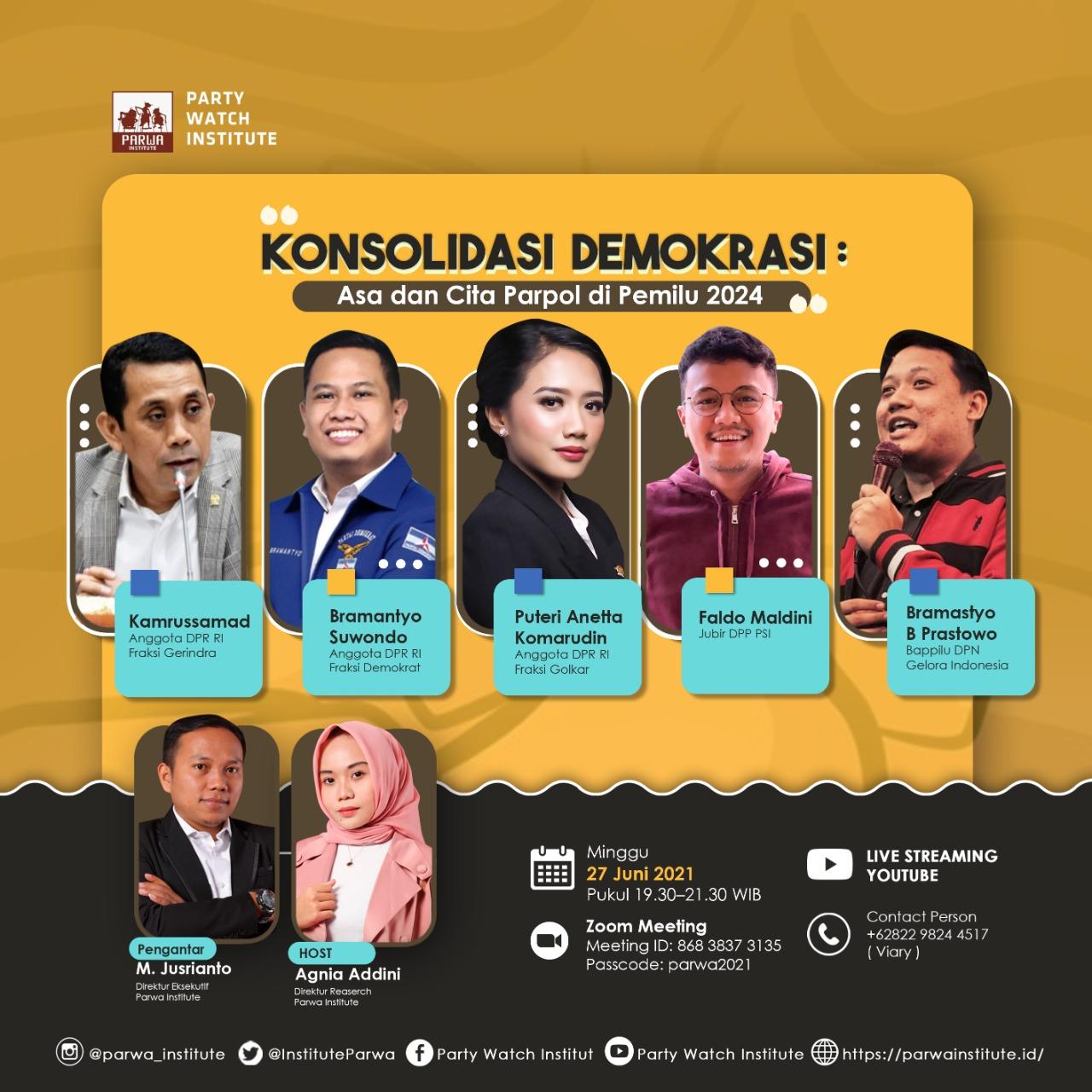 Konsolidasi Demokrasi : Asa dan Cita Parpol di Pemilu 2024