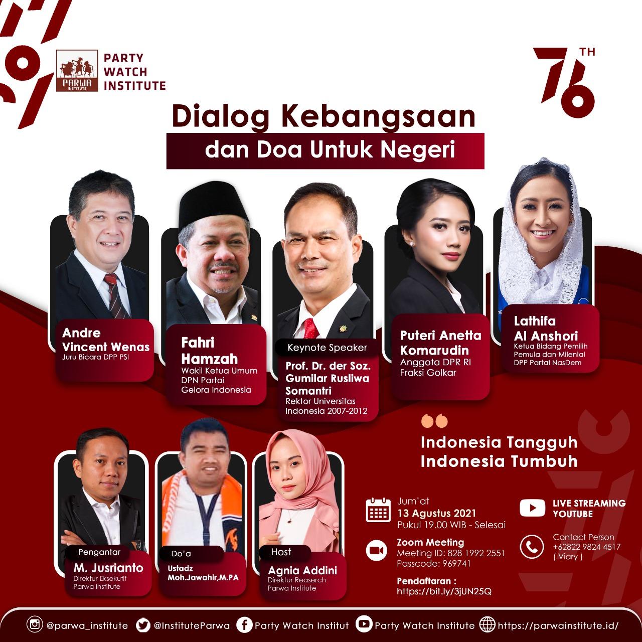 Dialog Kebangsaan & Doa untuk Negeri